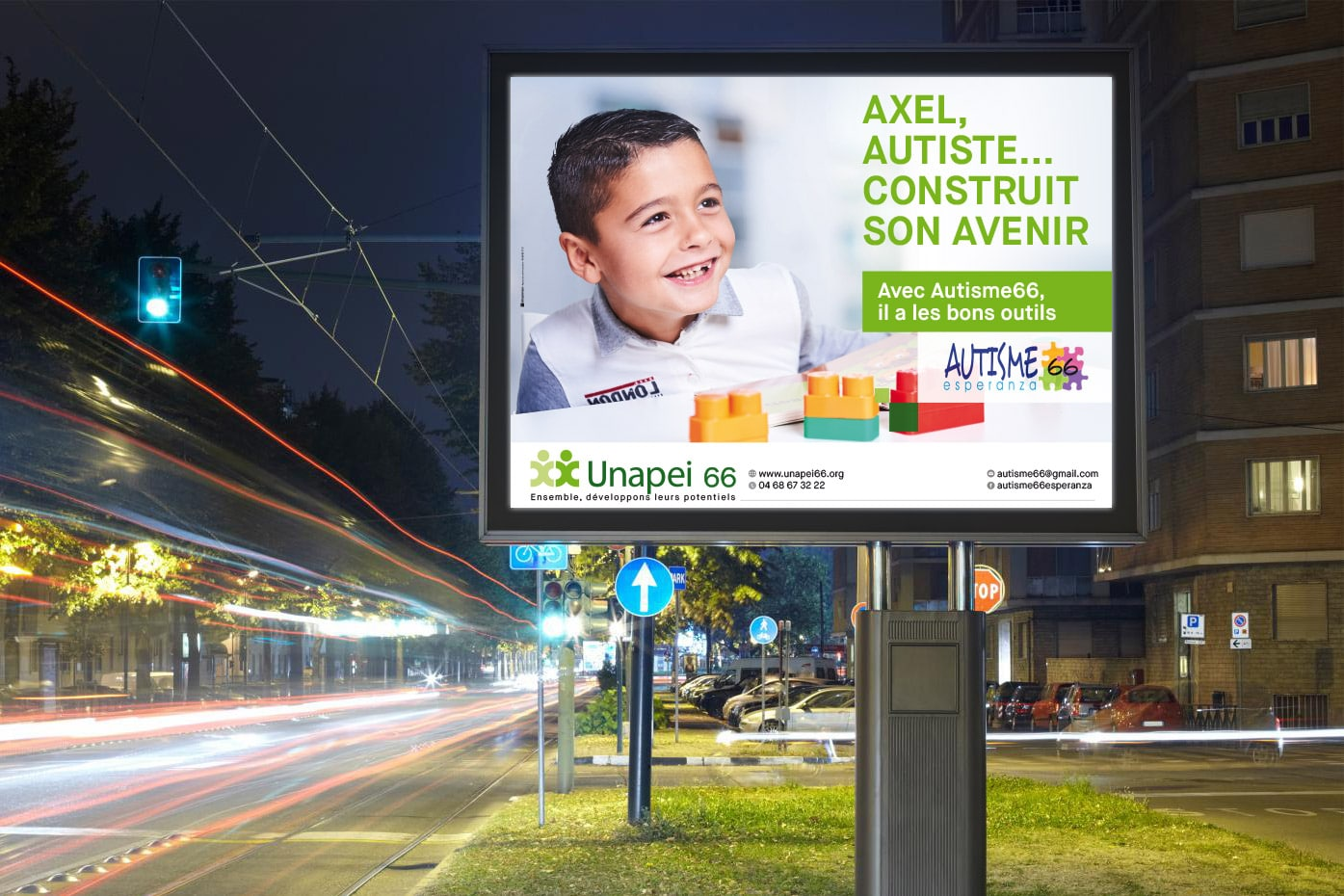 affiche communication association handicap unapei 66