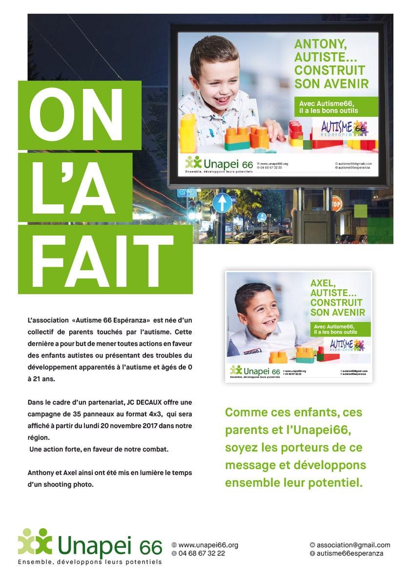 Agence de communication Languedoc Roussillon unapei 66
