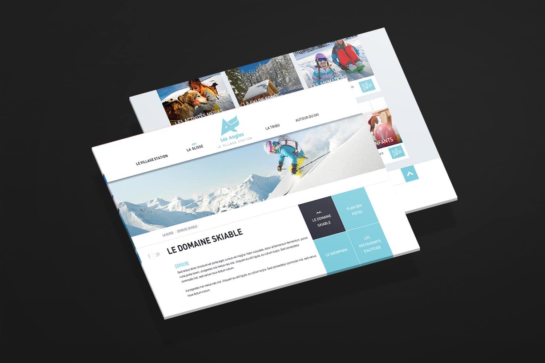 site internet station de ski les angles
