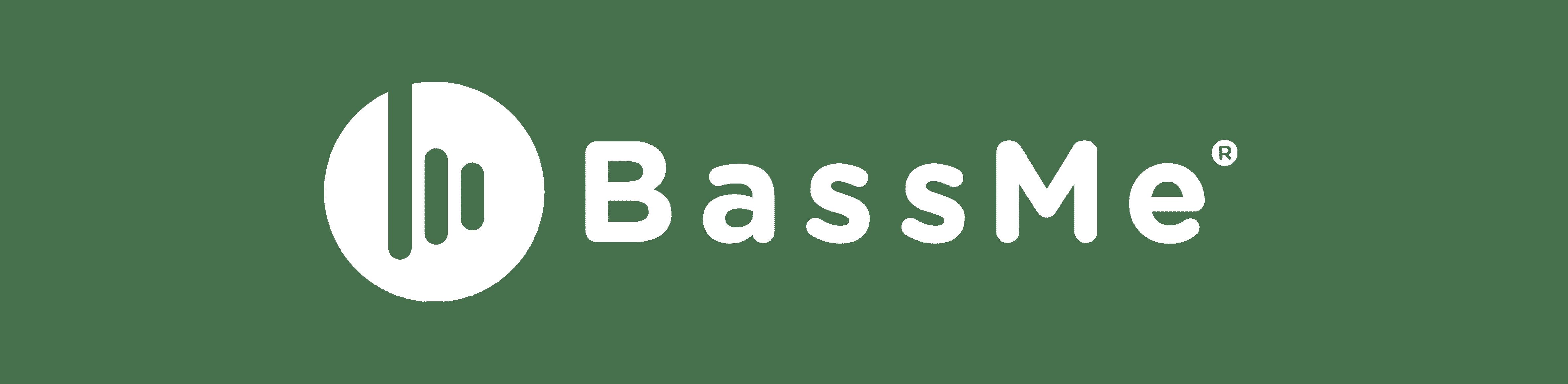 logo blanc bassme audio